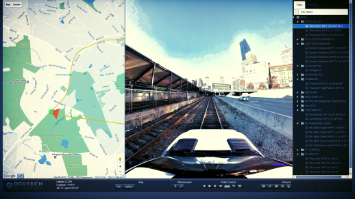 Railroad 360 video Imaging and mapping is a technique which reproduces 360 videos and panoramic pictures of the right of way and tracks. 3D as-built.