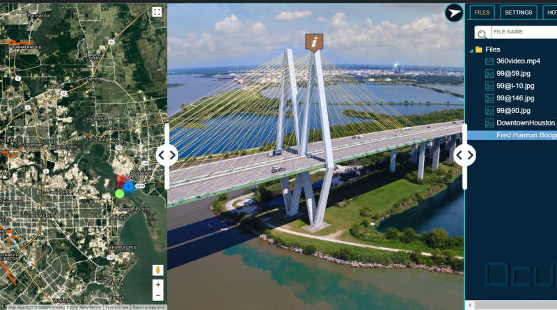 Video Imagery software for aerial geovideo, maps, and data management. OcuMap Software is camera agnostic, supports 360 degree video GPS & panoramic imagery